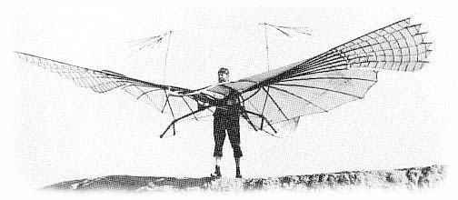 Otto Lilienthal poses with the original piece
